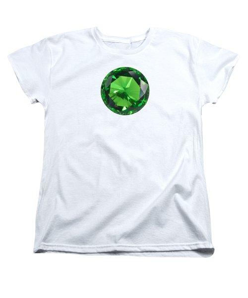 Emerald Isolated Women's T-Shirt (Standard Cut) by Atiketta Sangasaeng