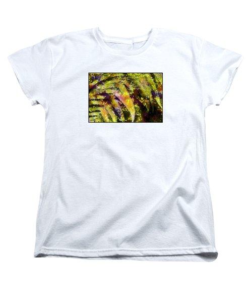 Fern In Dappled Light Women's T-Shirt (Standard Cut) by Judi Bagwell