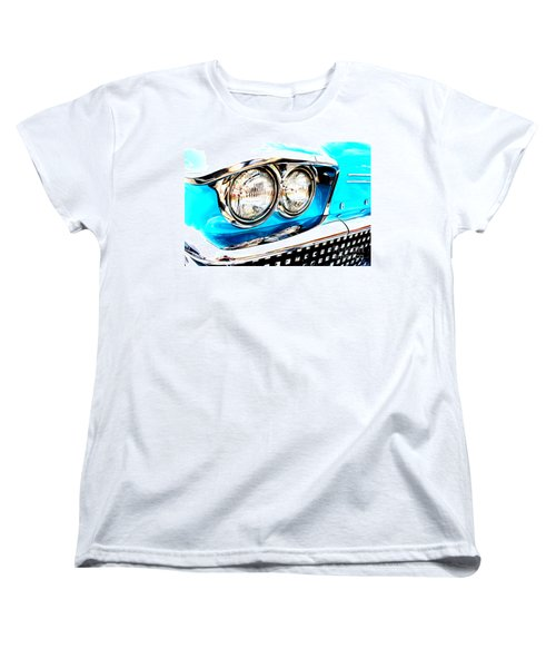 Women's T-Shirt (Standard Cut) featuring the digital art 1958 Buick by Tony Cooper