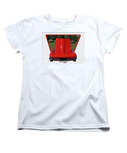 1965 Corvette Women's T-Shirt (Standard Cut) by EricaMaxine  Price