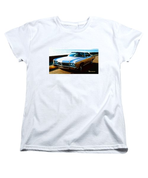 Women's T-Shirt (Standard Cut) featuring the photograph 1971 Chevrolet Impala Convertible by Sadie Reneau