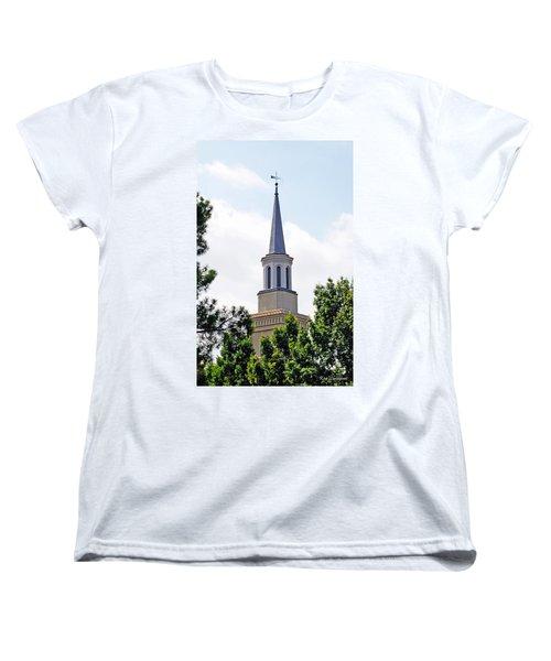 Women's T-Shirt (Standard Cut) featuring the photograph 1st Presbyterian Steeple by Kay Lovingood