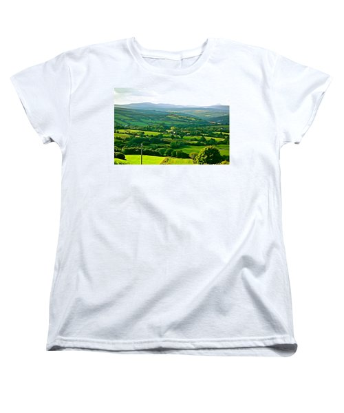 Women's T-Shirt (Standard Cut) featuring the photograph 50 Shades Of Green by Charlie and Norma Brock
