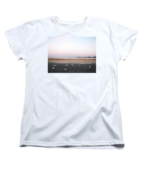 Women's T-Shirt (Standard Cut) featuring the photograph A Gathering On Rehoboth Bay by Pamela Hyde Wilson