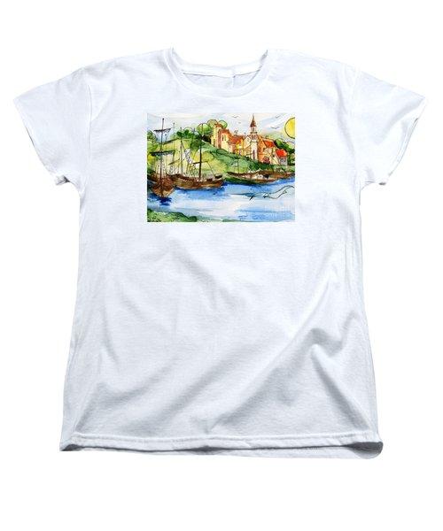 A Little Fisherman's Village Women's T-Shirt (Standard Cut)