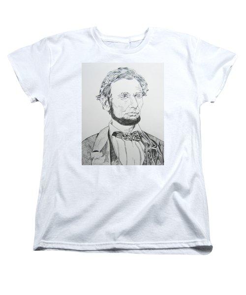 Abraham Lincoln Women's T-Shirt (Standard Cut) by John Keaton