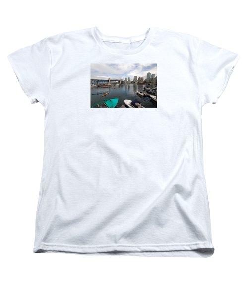 Women's T-Shirt (Standard Cut) featuring the photograph Across False Creek by John Schneider