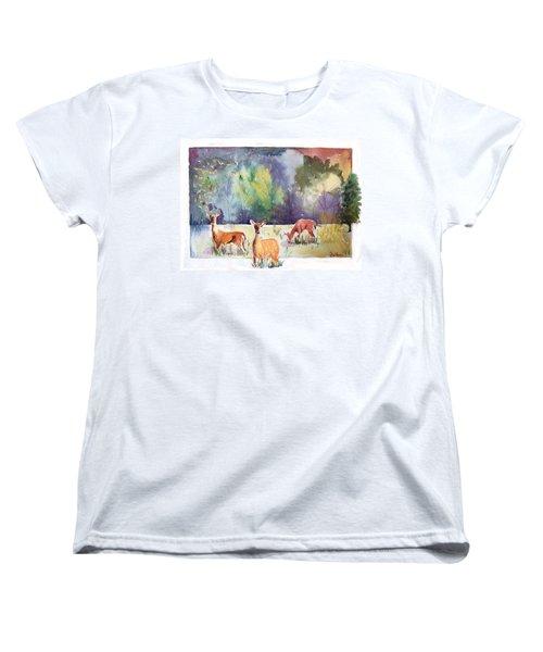 Alert Women's T-Shirt (Standard Cut) by Christine Lathrop