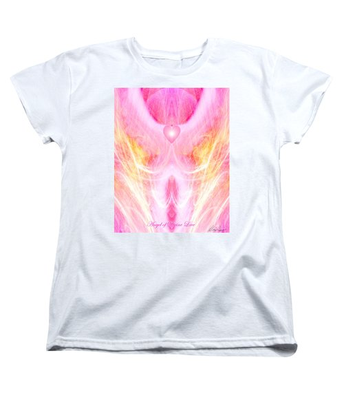 Angel Of Divine Love Women's T-Shirt (Standard Cut) by Diana Haronis