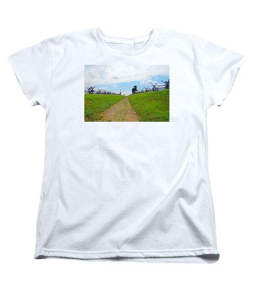 Antietam Battle Of Bloody Lane Women's T-Shirt (Standard Cut) by Cindy Manero