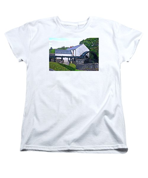 Women's T-Shirt (Standard Cut) featuring the photograph Auld Mill  by Charlie and Norma Brock