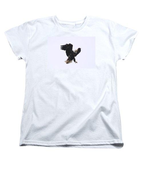 Bald Eagle Tallons Open Women's T-Shirt (Standard Cut) by Kym Backland