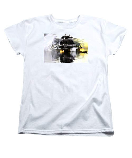 Battle Smoke Women's T-Shirt (Standard Cut) by Claude McCoy