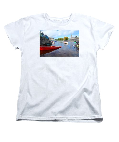 Women's T-Shirt (Standard Cut) featuring the photograph Boats On The Garavogue by Charlie and Norma Brock