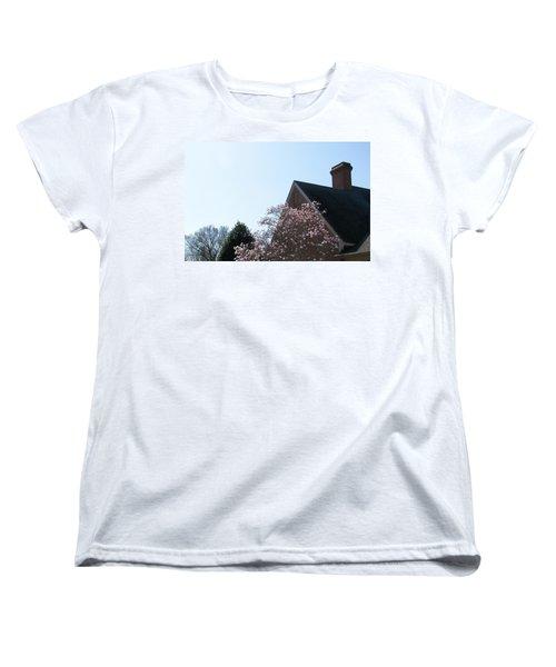 Women's T-Shirt (Standard Cut) featuring the photograph Brick And Blossom by Pamela Hyde Wilson