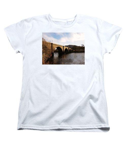 Women's T-Shirt (Standard Cut) featuring the photograph Bridge Across River Tay by Lynn Bolt