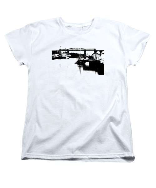 Women's T-Shirt (Standard Cut) featuring the photograph Bridge On The Boyne by Charlie and Norma Brock