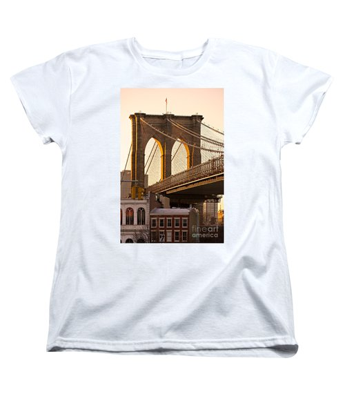 Women's T-Shirt (Standard Cut) featuring the photograph Brooklyn Bridge - New York by Luciano Mortula