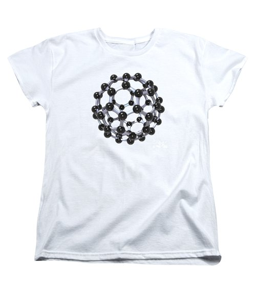 Buckminsterfullerene Or Buckyball C60 18 Women's T-Shirt (Standard Cut) by Russell Kightley