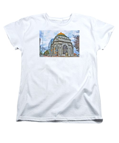 Women's T-Shirt (Standard Cut) featuring the photograph Buffalo Savings Bank  Goldome  M And T Bank Branch by Michael Frank Jr