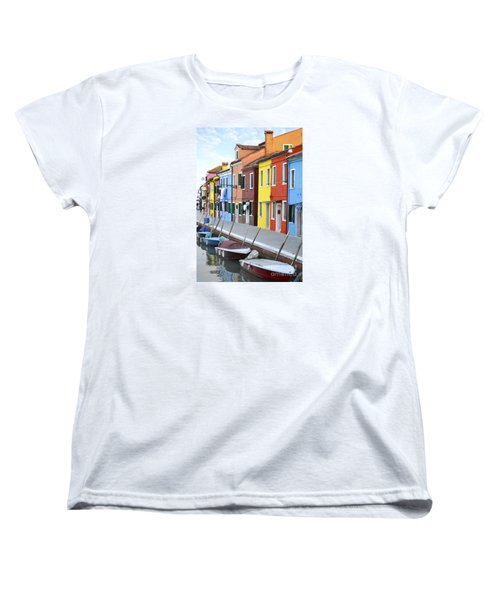 Women's T-Shirt (Standard Cut) featuring the photograph Burano Italy 2 by Rebecca Margraf