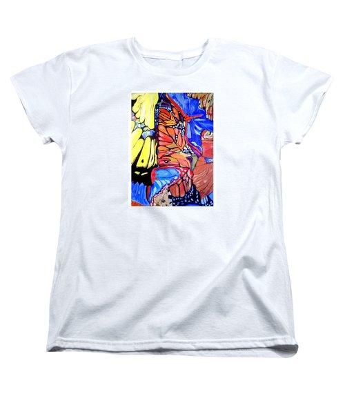 Butterfly Wings Women's T-Shirt (Standard Cut) by Sandra Lira