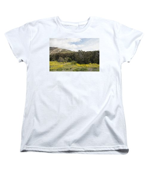 California Hillside View IIi Women's T-Shirt (Standard Cut) by Kathleen Grace