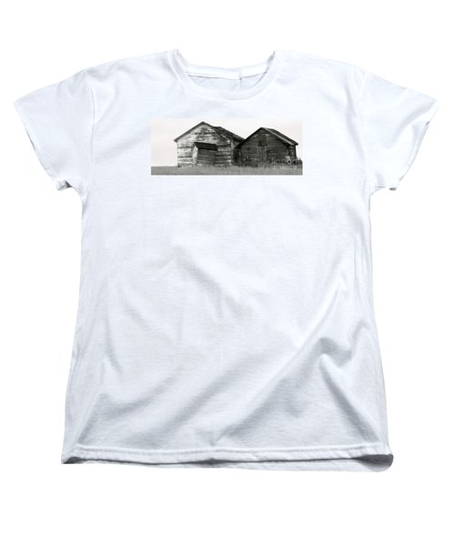 Canadian Barns Women's T-Shirt (Standard Cut) by Jerry Fornarotto
