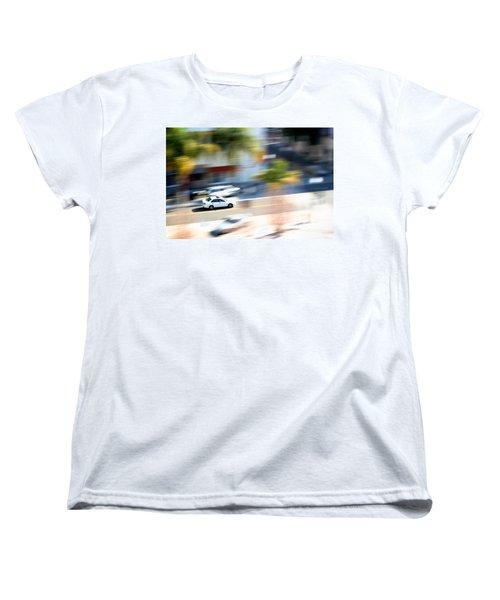 Car In Motion Women's T-Shirt (Standard Cut) by Henrik Lehnerer