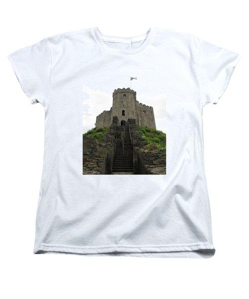 Cardiff Castle Women's T-Shirt (Standard Cut) by Ian Kowalski