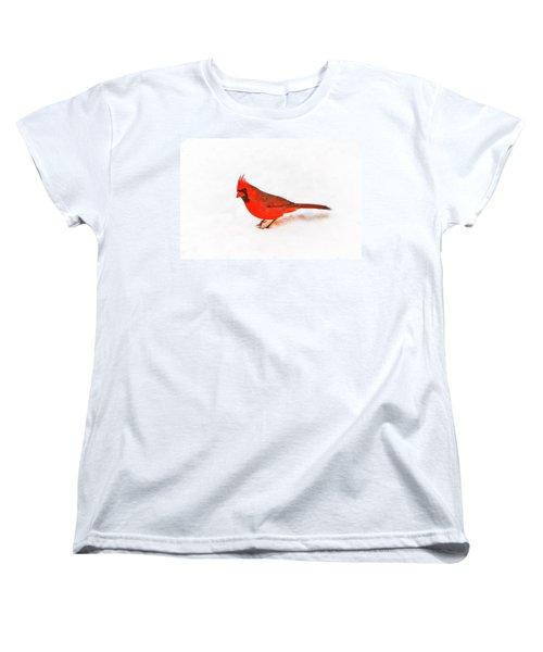 Women's T-Shirt (Standard Cut) featuring the photograph Young Cardinal's Curiosity by Tamyra Ayles