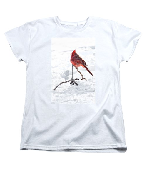 Women's T-Shirt (Standard Cut) featuring the photograph Cardinal's Song by Tamyra Ayles
