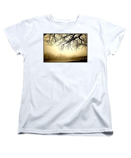 Castle In The Fog Women's T-Shirt (Standard Cut) by Brian Duram