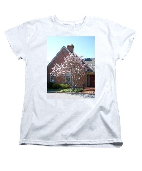 Women's T-Shirt (Standard Cut) featuring the photograph Cherry Blossom by Pamela Hyde Wilson
