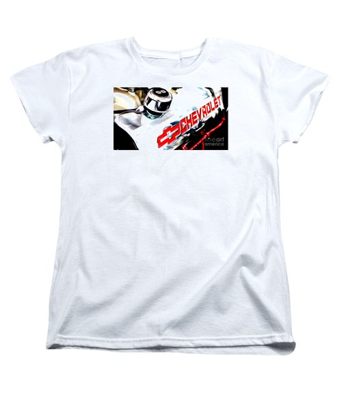 Women's T-Shirt (Standard Cut) featuring the digital art Chevy Power by Tony Cooper