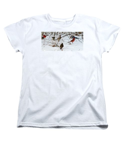 Christmas Feast Women's T-Shirt (Standard Cut) by Joe Faherty