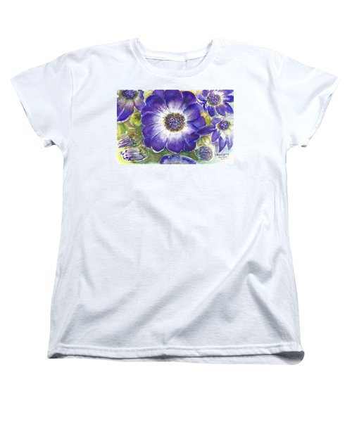 Cineraria Of South Africa  Women's T-Shirt (Standard Cut) by Bernadette Krupa