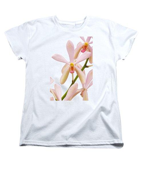 Closeup Pink Orchid Women's T-Shirt (Standard Cut) by Atiketta Sangasaeng