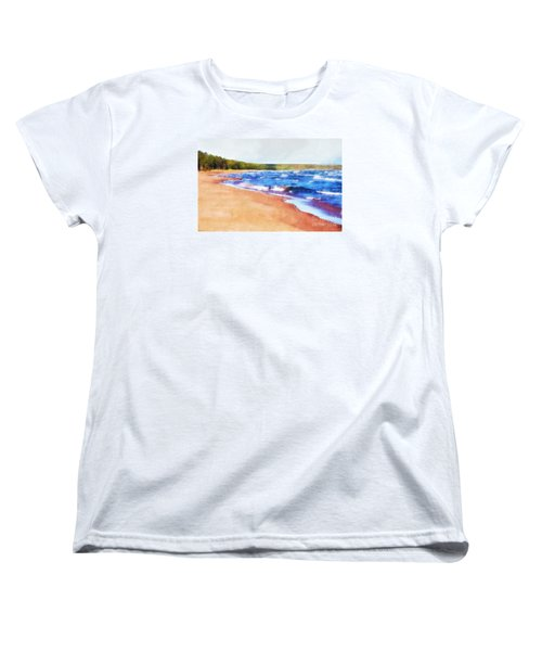 Women's T-Shirt (Standard Cut) featuring the photograph Colors Of Water by Phil Perkins