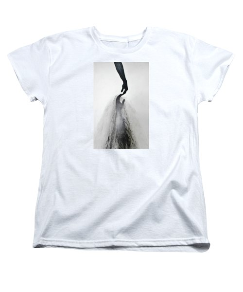 Women's T-Shirt (Standard Cut) featuring the drawing Coming Apart 3 by Michael Cross