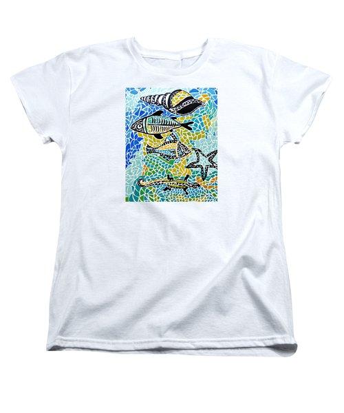Comotion In The Ocean Women's T-Shirt (Standard Cut) by Sandra Lira