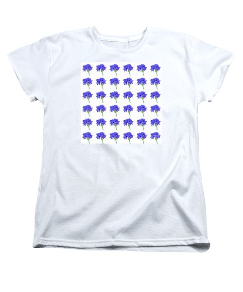 Women's T-Shirt (Standard Cut) featuring the digital art Cornflowers by Barbara Moignard