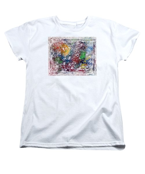 Women's T-Shirt (Standard Cut) featuring the painting Cosmos by Alys Caviness-Gober