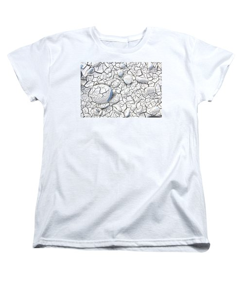 Women's T-Shirt (Standard Cut) featuring the photograph Cracked Earth by Nareeta Martin
