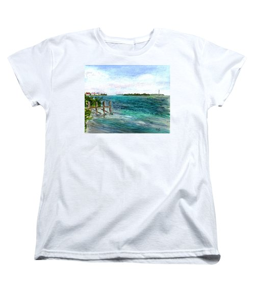 Cudjoe Bay Women's T-Shirt (Standard Cut) by Clara Sue Beym