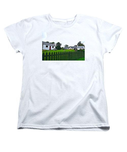 Women's T-Shirt (Standard Cut) featuring the photograph Donegal Home by Charlie and Norma Brock