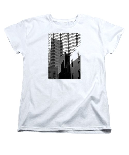 Downtown Lines Women's T-Shirt (Standard Cut) by Jean Haynes