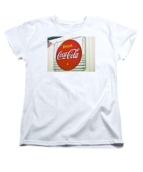 Drink Coca Cola Women's T-Shirt (Standard Cut) by Susan Leggett