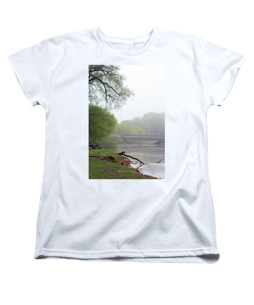Women's T-Shirt (Standard Cut) featuring the photograph Early Spring Morning Fog by Kay Novy