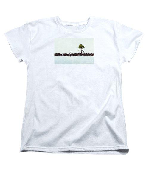 Women's T-Shirt (Standard Cut) featuring the photograph Falling Mangrove Leaf by Dan Friend